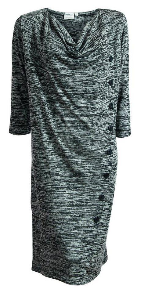 Signature Jerseykleid in schwarz