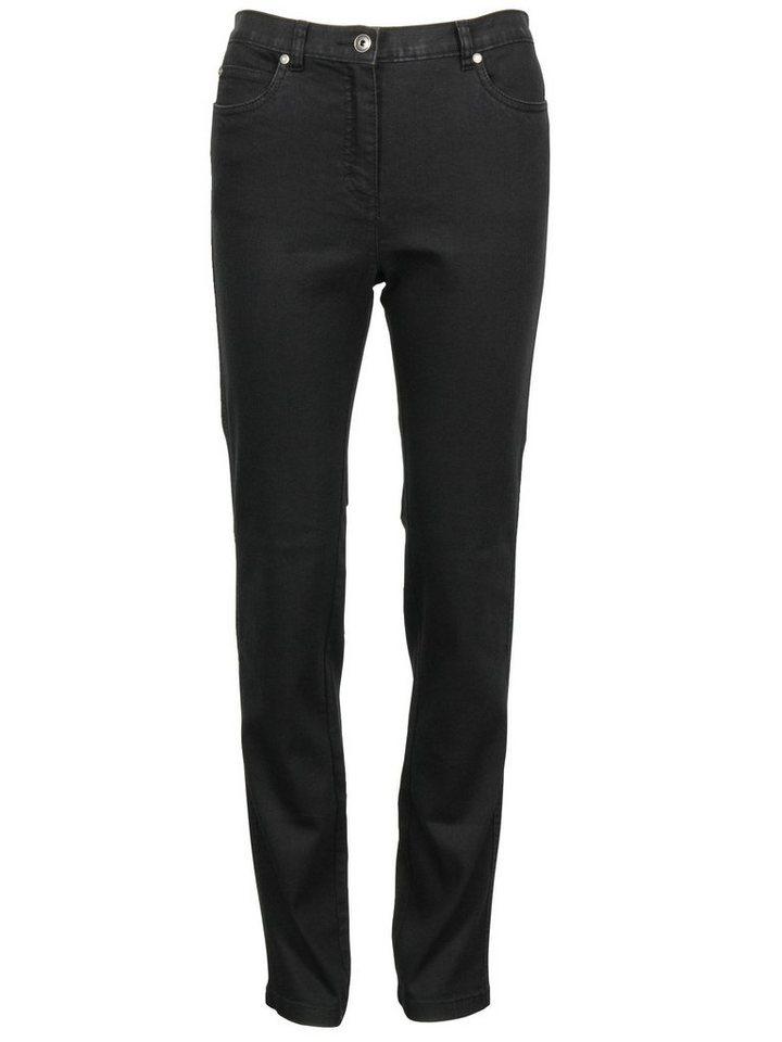 Brandtex High-waist-Jeans in schwarz