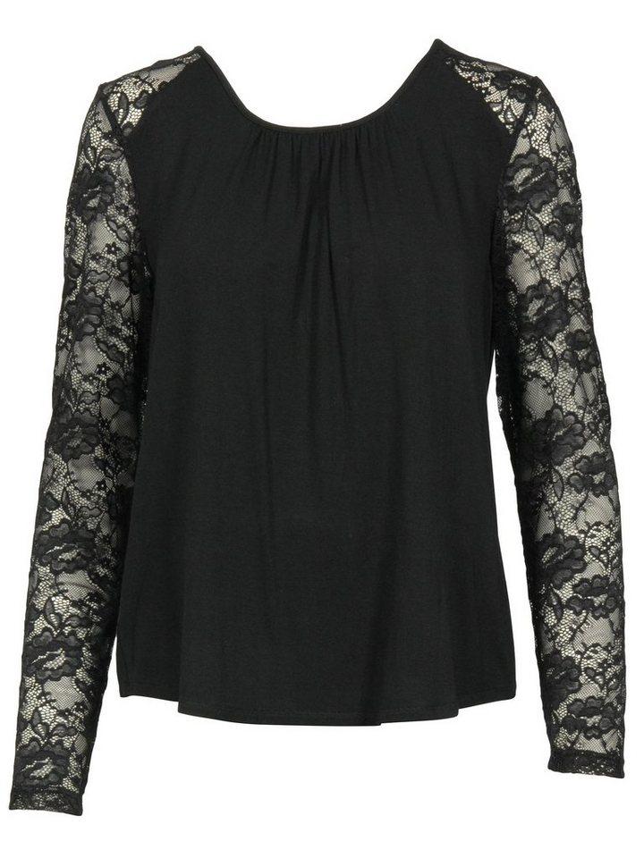 Imitz Shirtbluse in schwarz