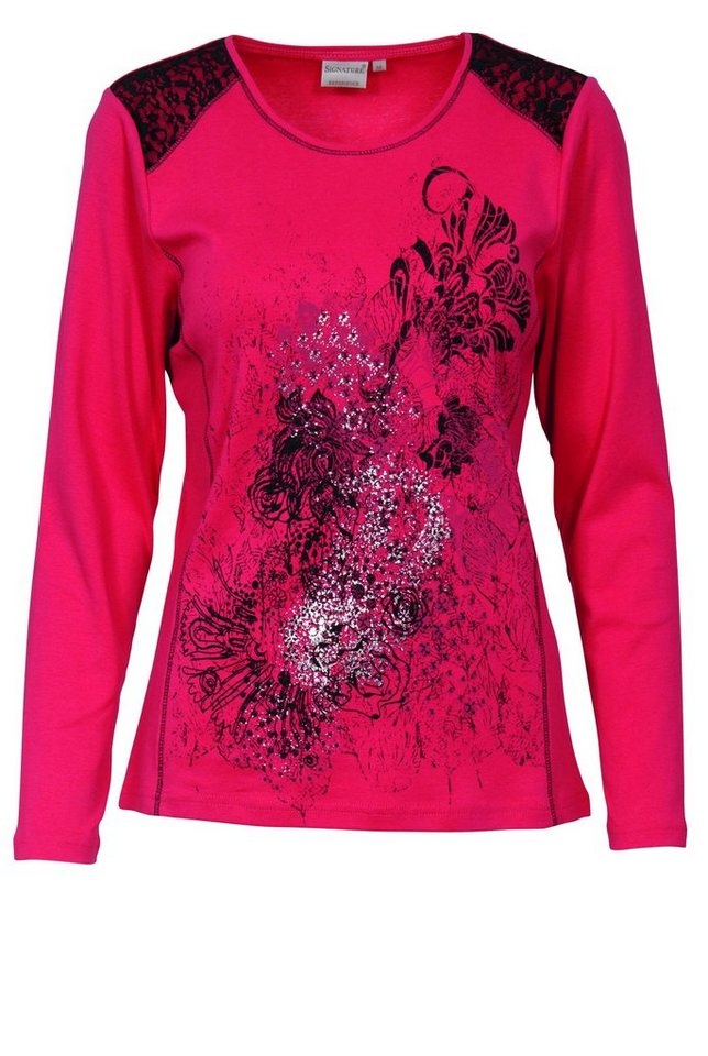 Signature T-Shirt in rot