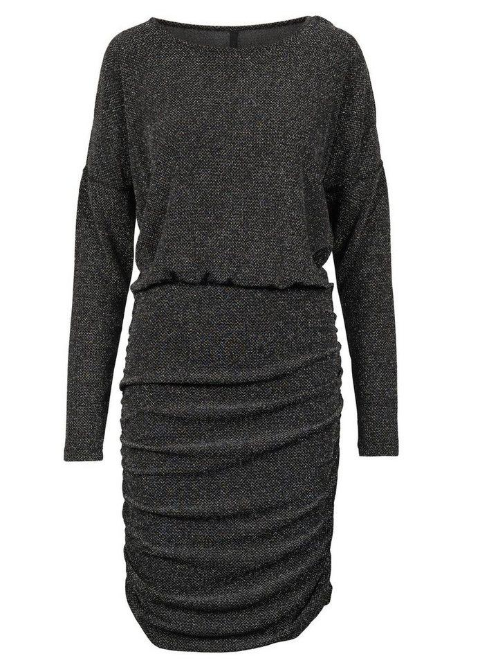 Imitz Blusenkleid in schwarz