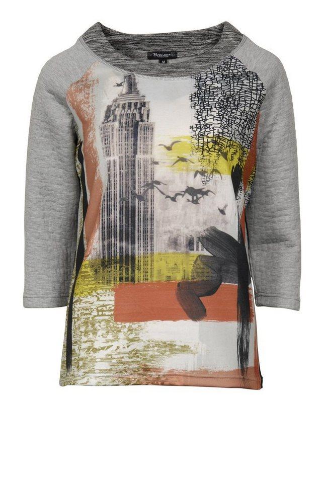 Brandtex Shirtbluse in grau