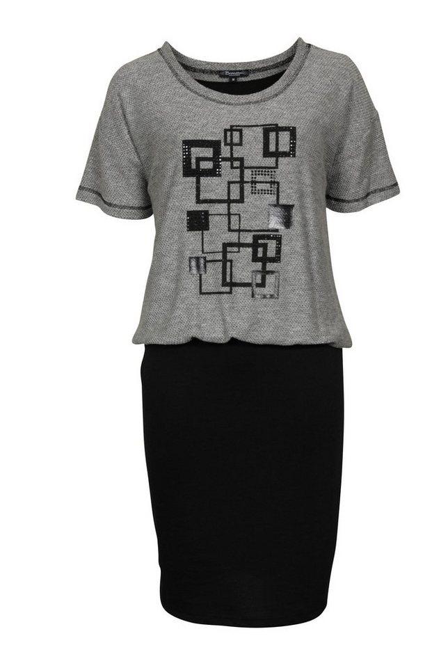 Brandtex Jerseykleid in schwarz