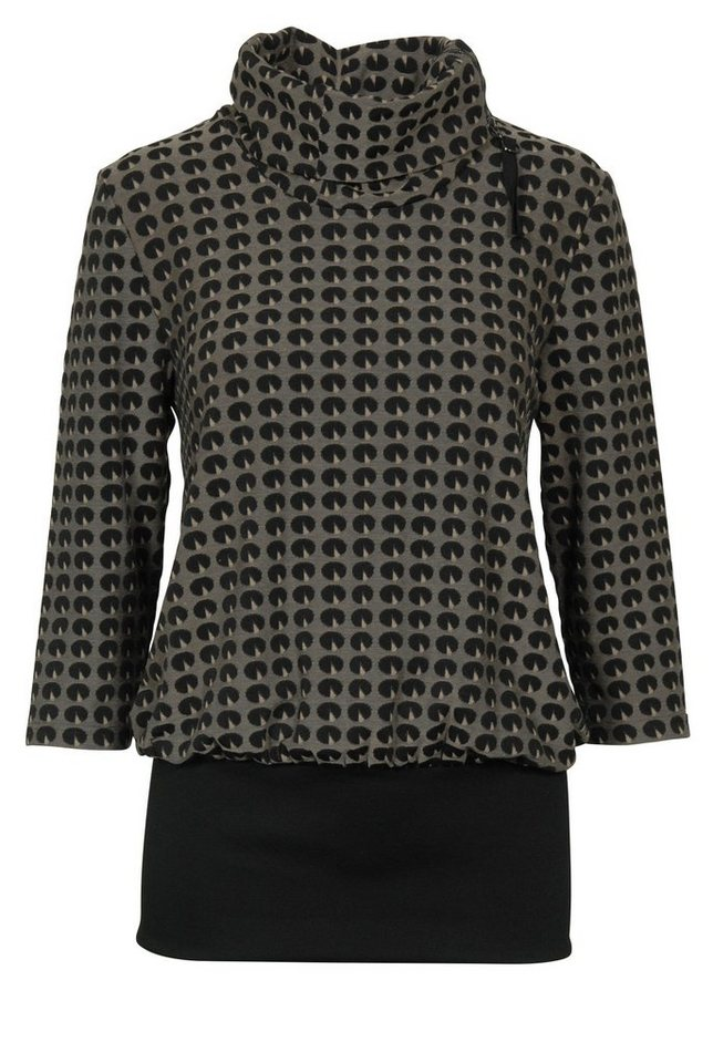 Brandtex Shirtbluse in schwarz