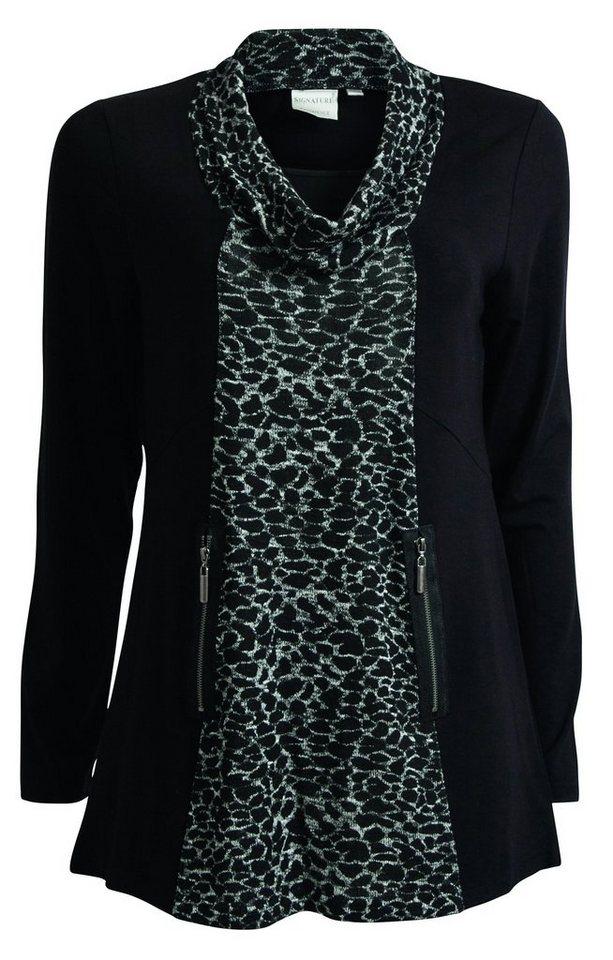 Signature Blusenshirt in schwarz