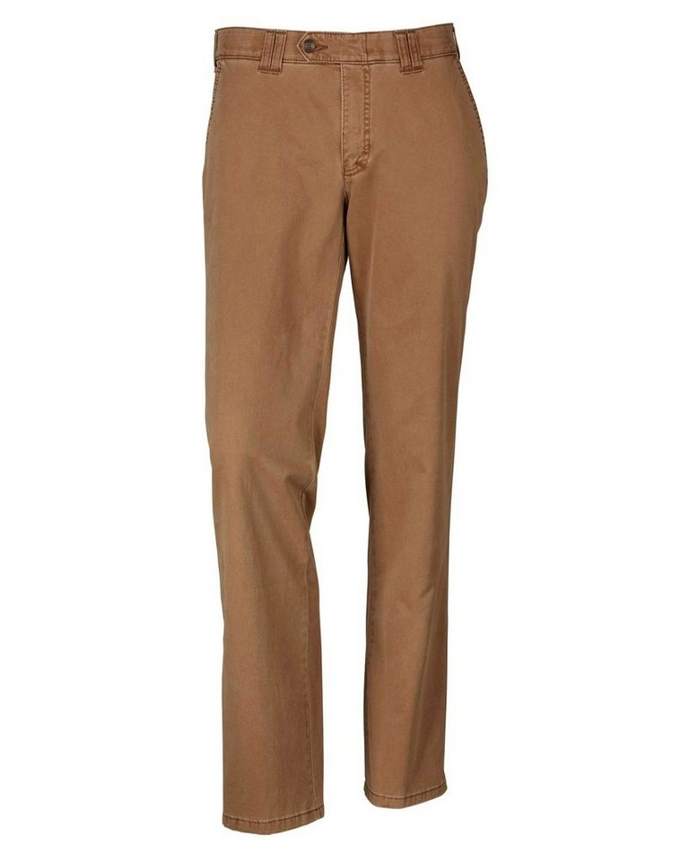 Club of Comfort Flatfront-Hose in Cognac