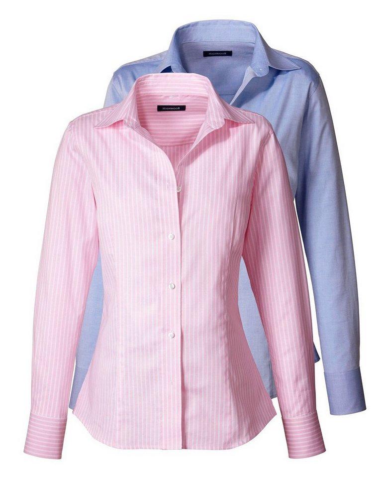 Highmoor Doppelpack Blusen in Bleu+Rosé