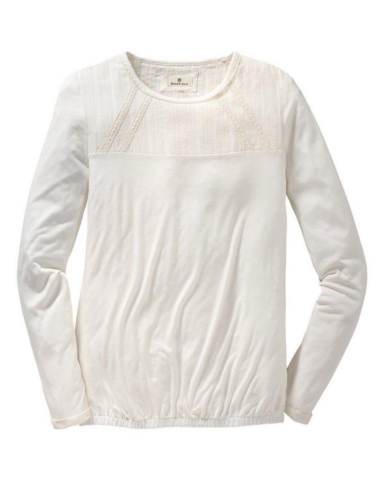 Basefield Langarm-Shirt in Wollweiß
