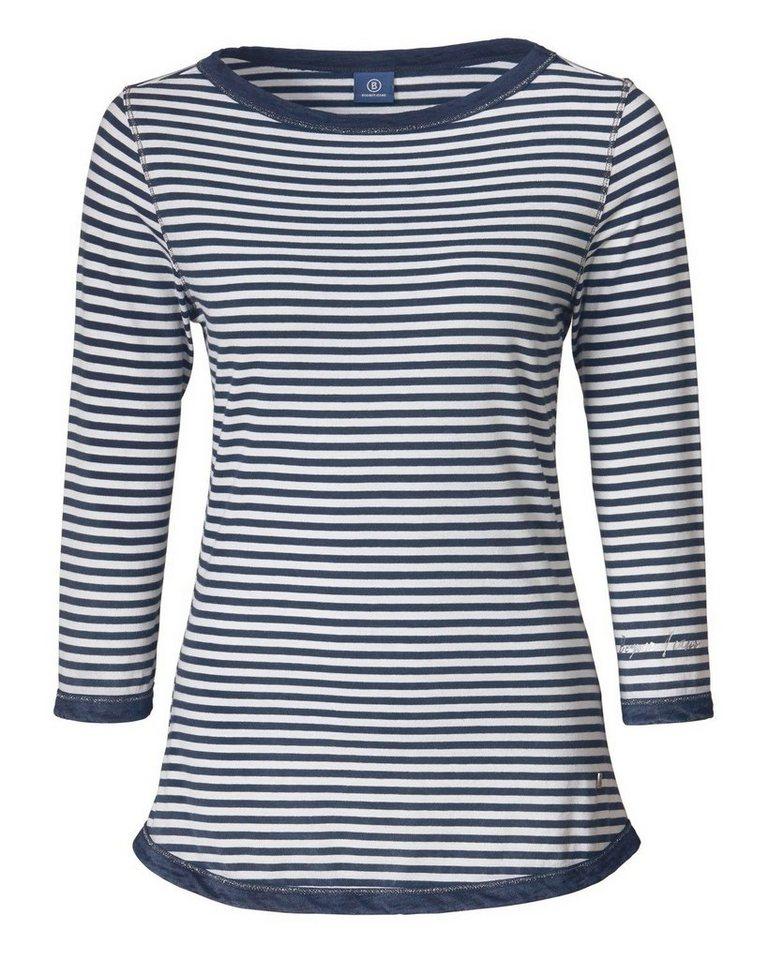Bogner Jeans Streifenshirt in Marine/Weiß