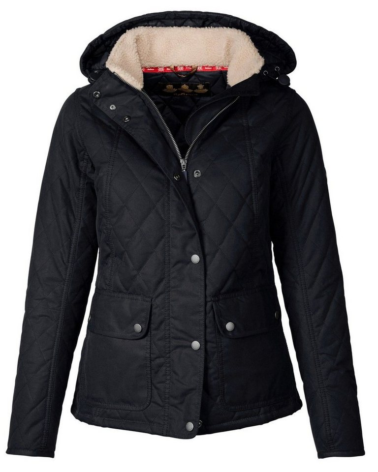 Barbour Wachsjacke Bartlett Quilted Wax Jacket in Navy