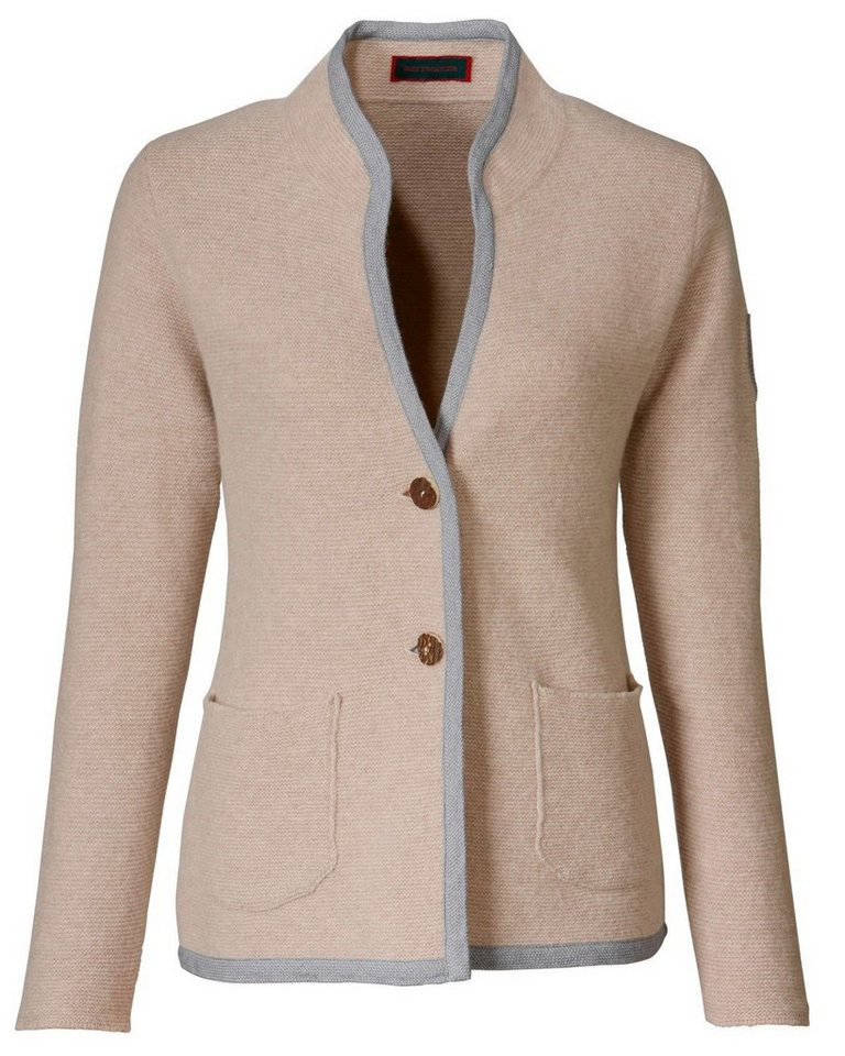 Reitmayer Linksstrickjacke in Beige/Grau