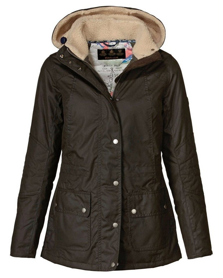 Barbour Wachsjacke Apsley Wax Jacket in Oliv