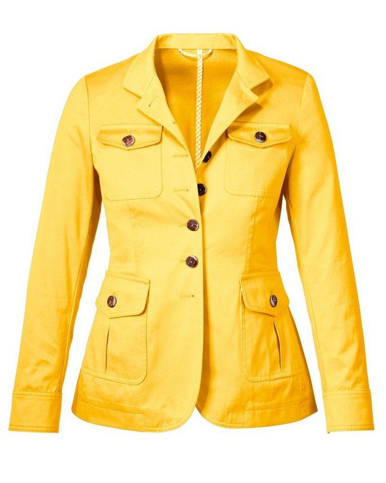 Reitmayer Stehkragenjacke in Gelb