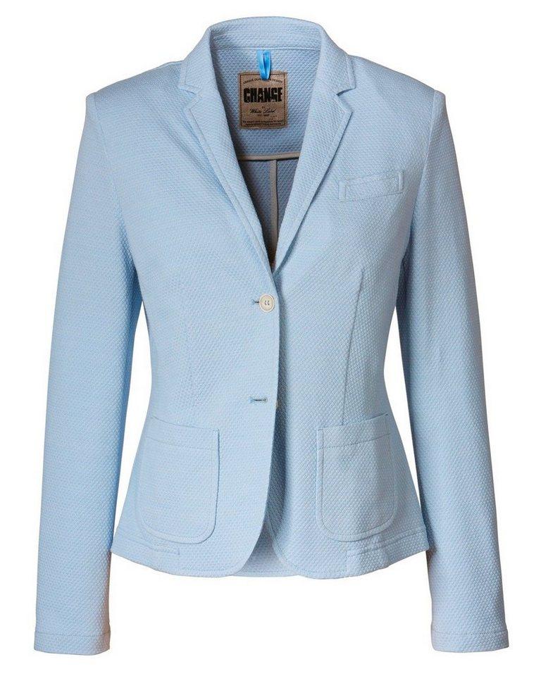 White Label Piqué-Blazer in Blau