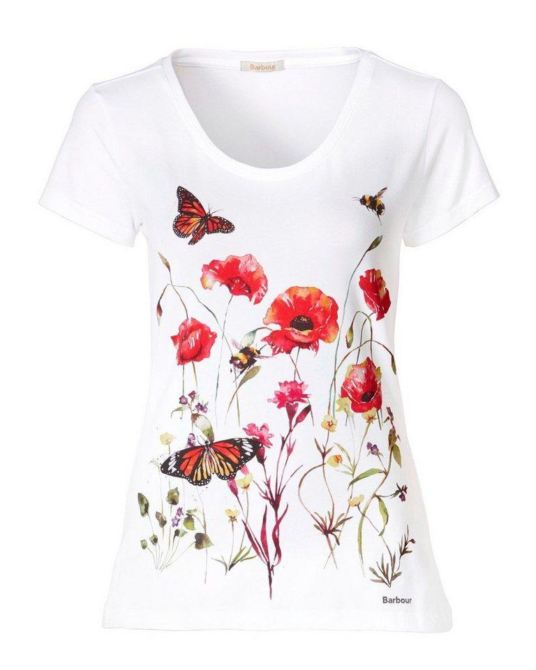Barbour T-Shirt Wytherstone in Weiß