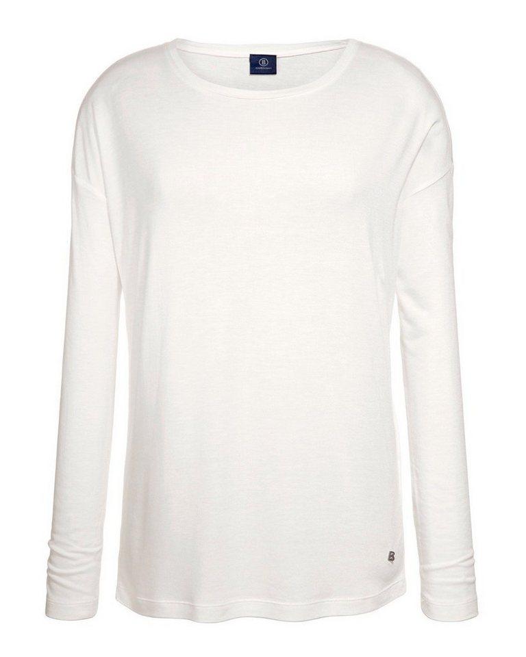 Bogner Jeans Viskose-Shirt in Weiß