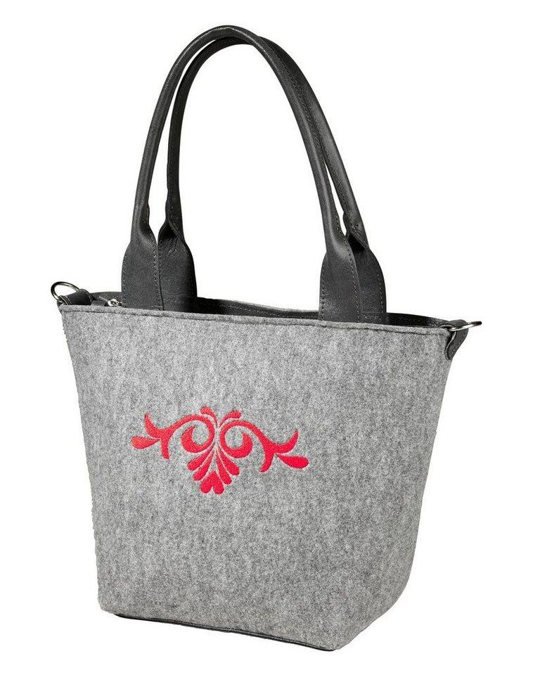 Reitmayer Filz-Handtasche in Grau