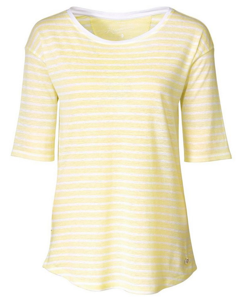 Arqueonautas Streifenshirt in Gelb/Weiß
