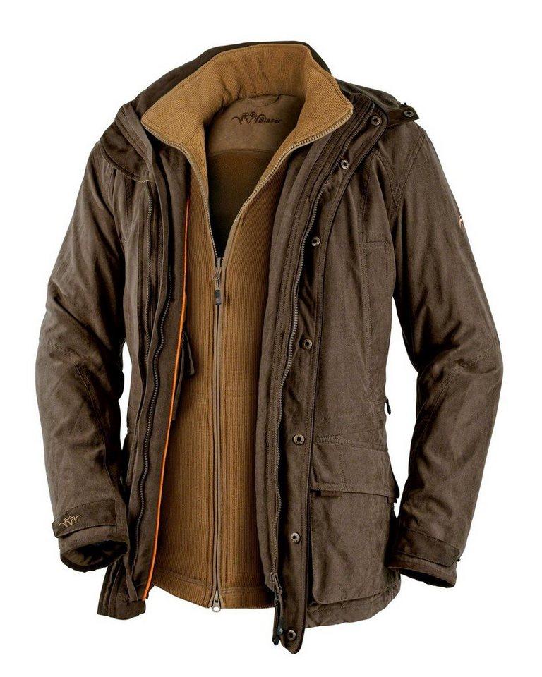 Blaser Active Outfits Argali2 2-in-1-Jacke in Braun-Meliert