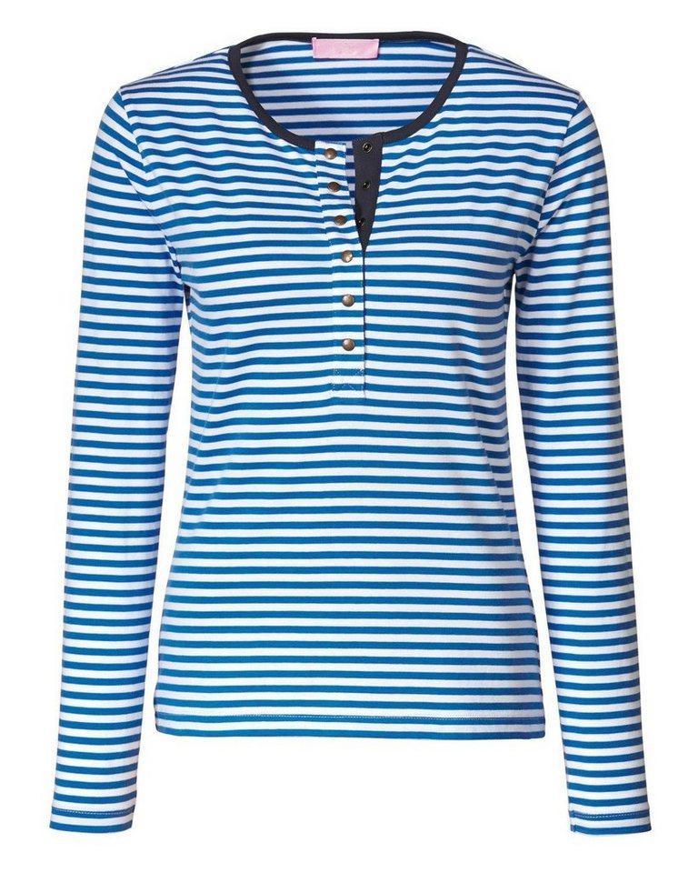 Brigitte von Schönfels Ringelshirt in Blau/Weiß
