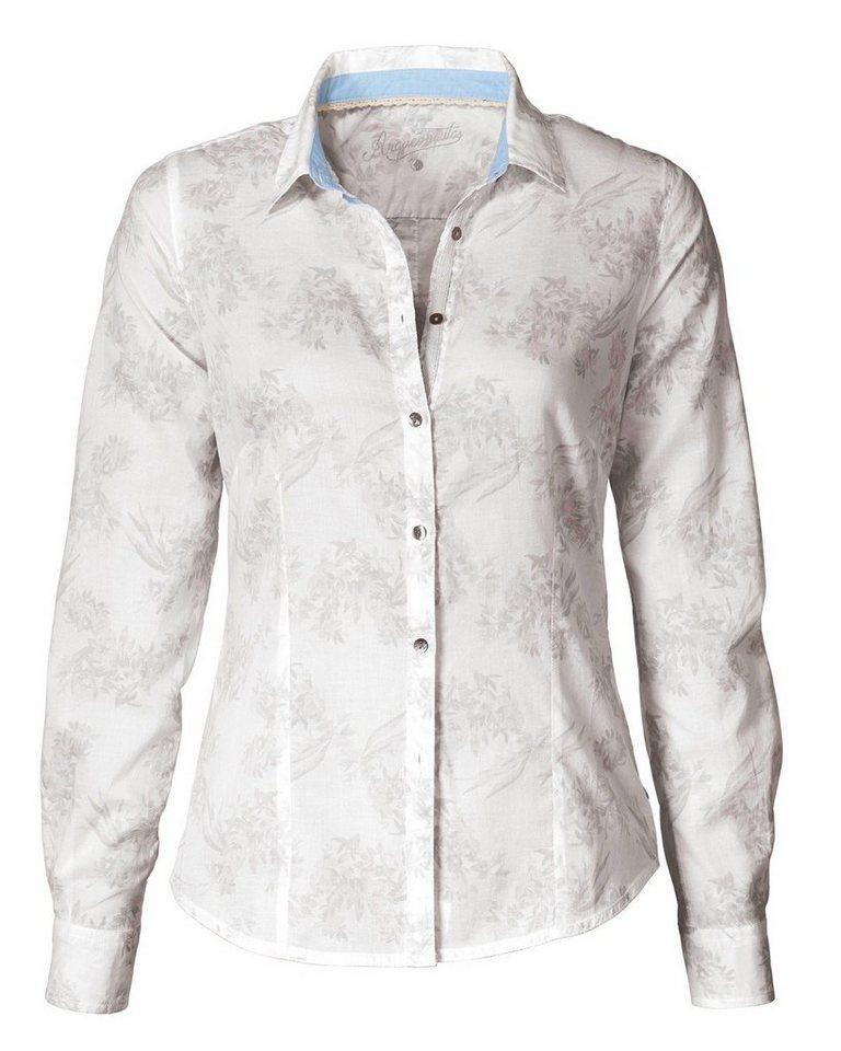 Arqueonautas Druckbluse in Weiß/Grau