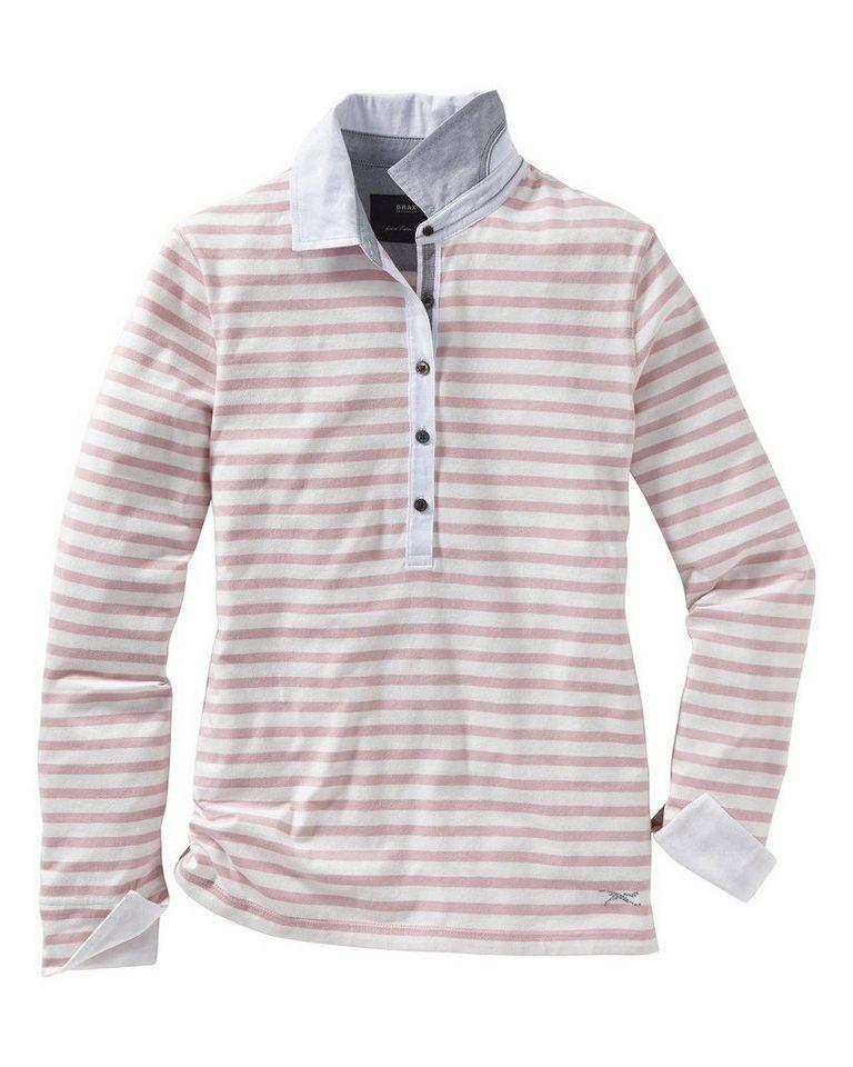 Brax Poloshirt Cecille in Altrosa/Offwhite