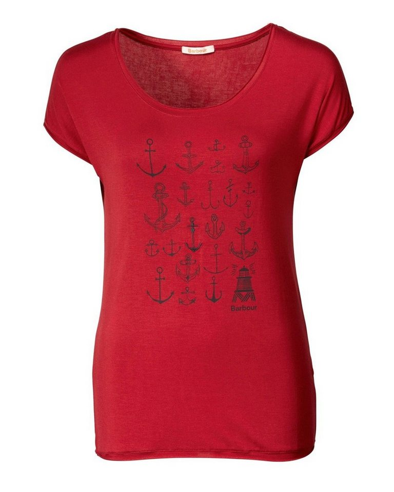 Barbour T-Shirt Maryport Tee in Rot