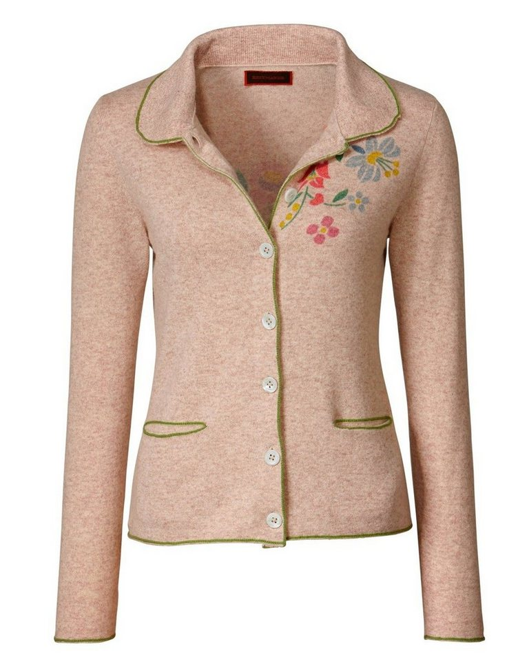 Reitmayer Strickjacke in Beige/Grün
