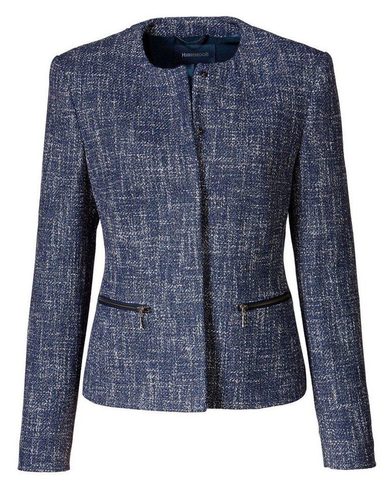 Highmoor Sommertweed-Jacke in Blau/Weiß