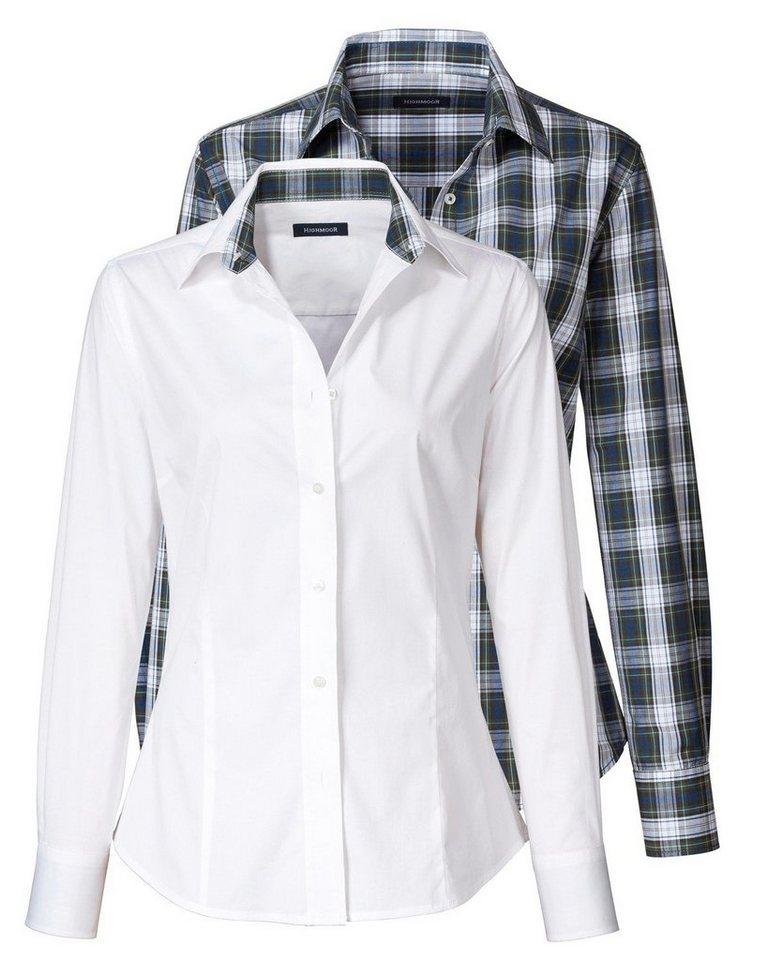 Highmoor Doppelpack Blusen in Weiß/Blackwatch