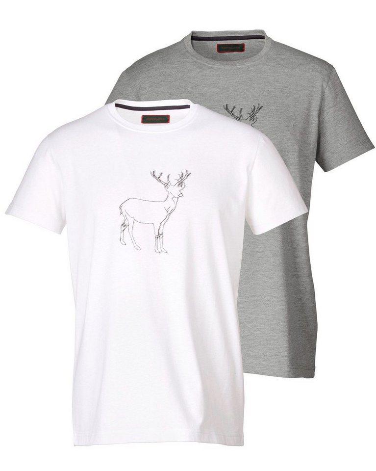 Reitmayer T-Shirt Doppelpack in Weiß/Grau