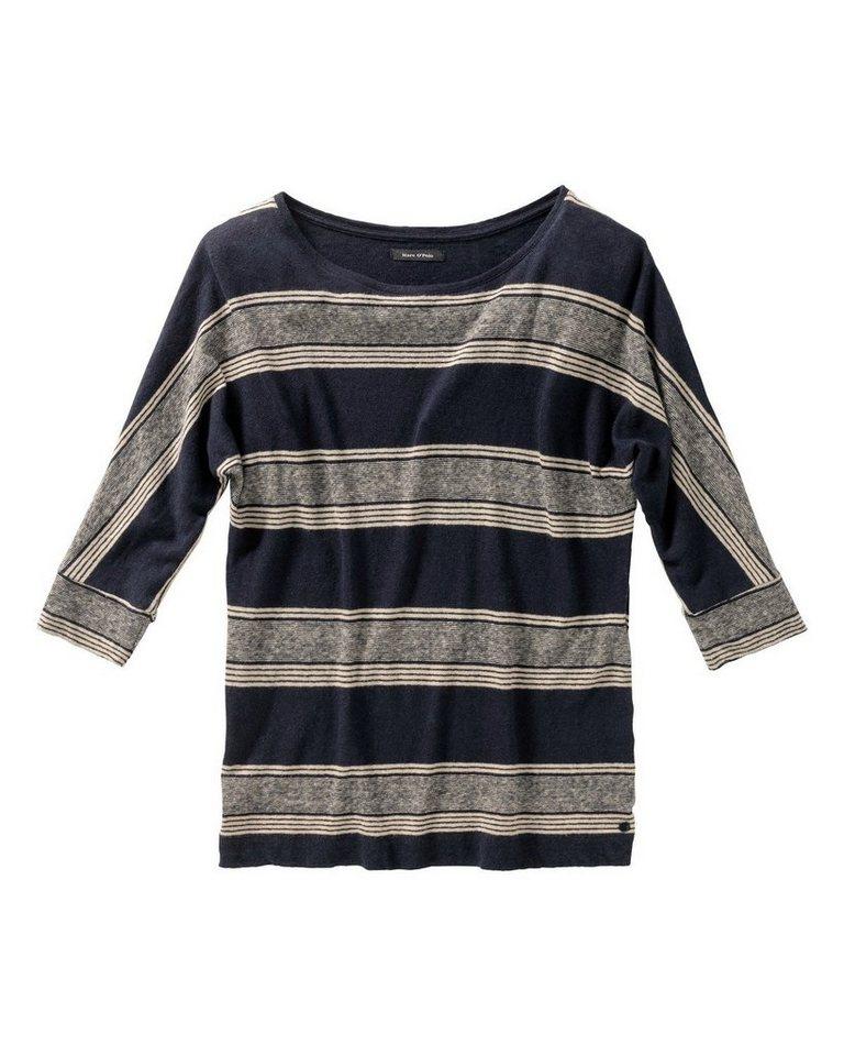 Marc O'Polo Streifenshirt in Blau/Ecru