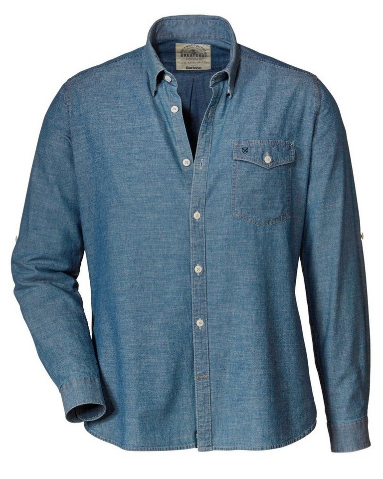 Barbour Jeanshemd Falcon in Blau
