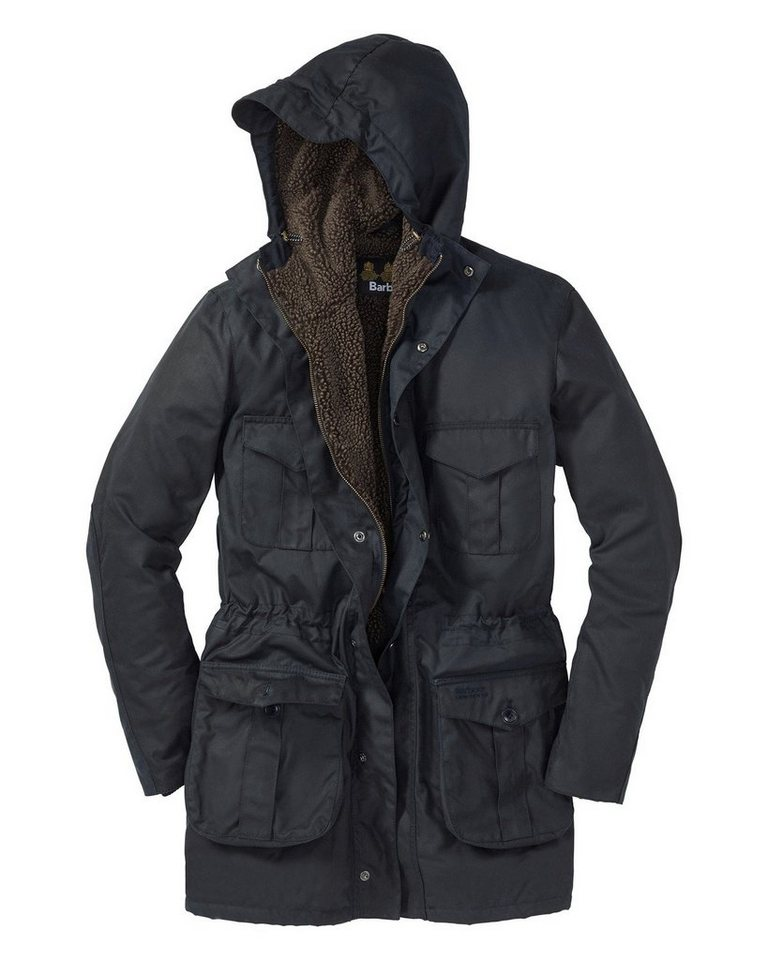 Barbour Wachsjacke in Marine