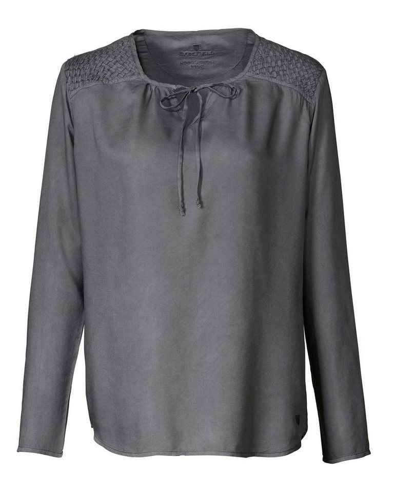 BASEFIELD Blusenshirt in Grau