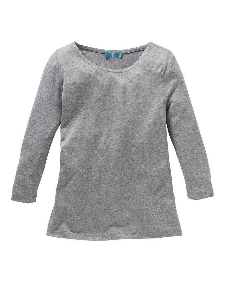 Brigitte von Schönfels 3/4-Shirt in Grau-Meliert
