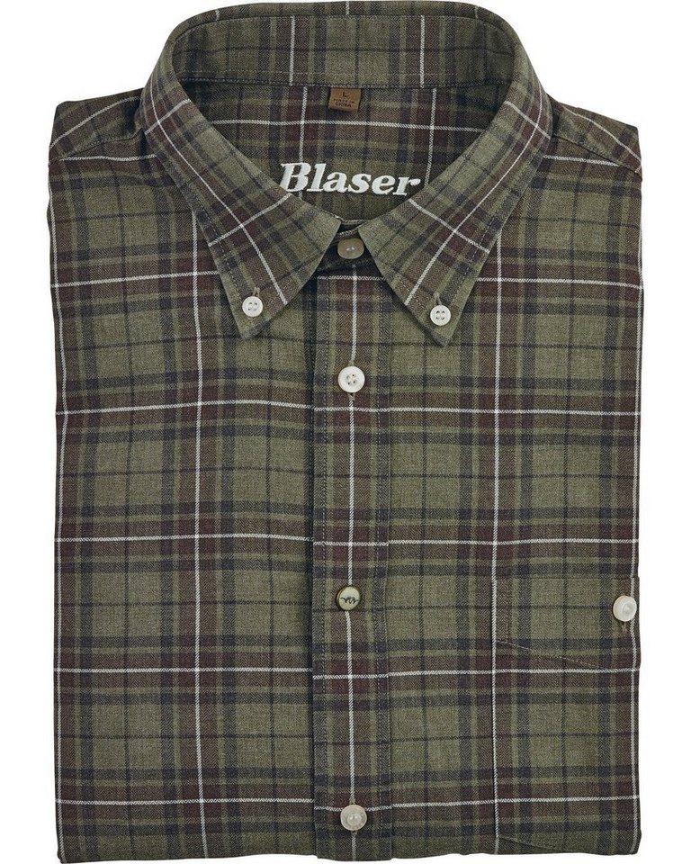 Blaser Urs Twill-Shirt in braunkariert