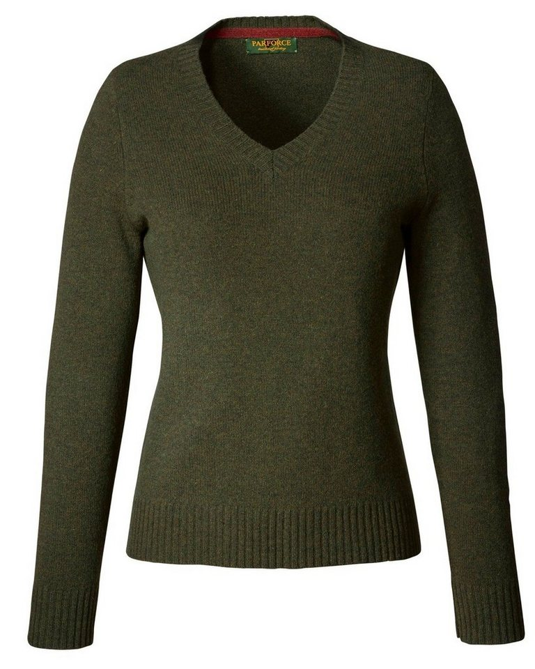 Parforce Traditional Hunting Lambswool-Pullover in Oliv