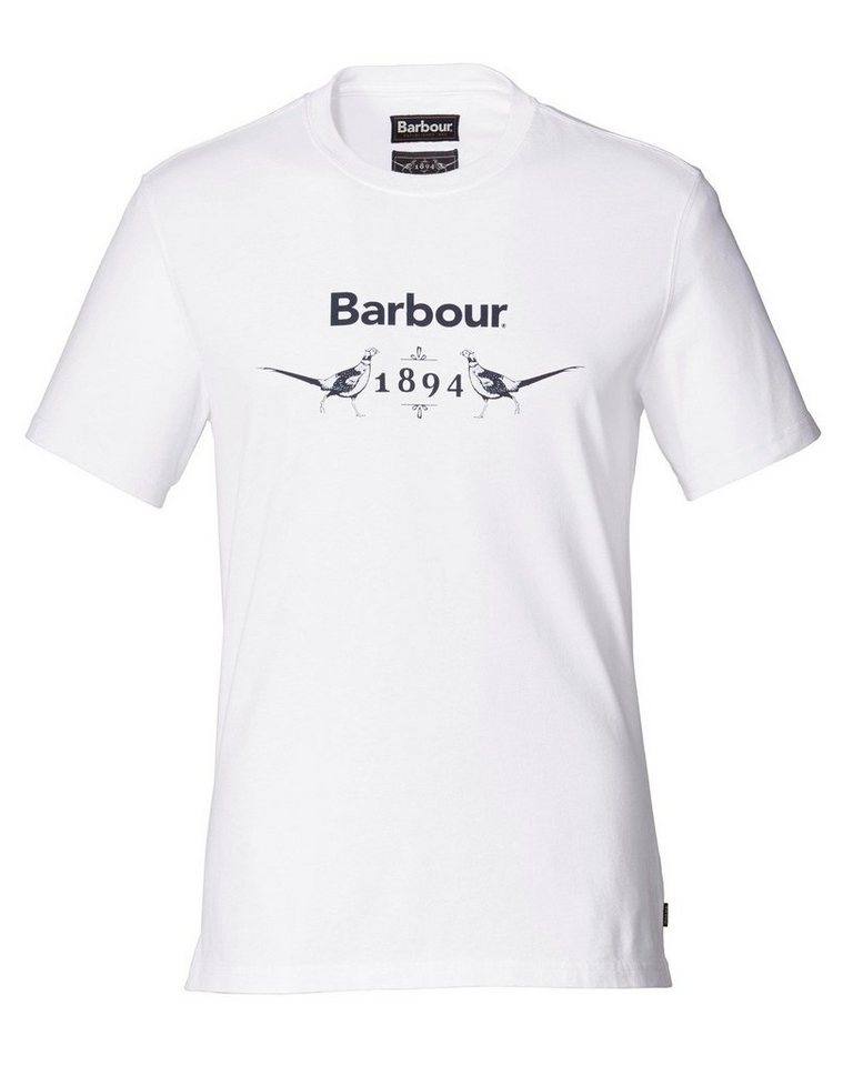 Barbour T-Shirt Morpeth in Weiß
