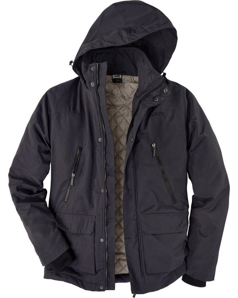 Jeep Jacke Outdoor Padded in Anthrazit