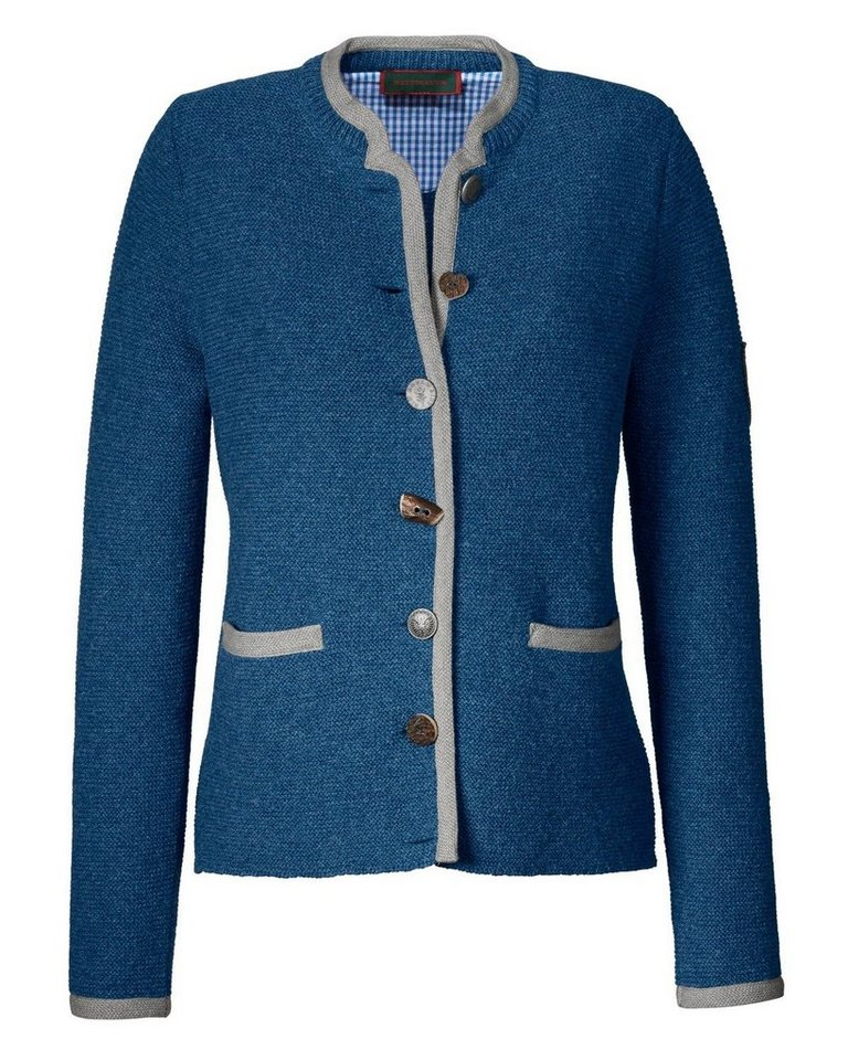 Reitmayer Linksstrickjacke in Blau