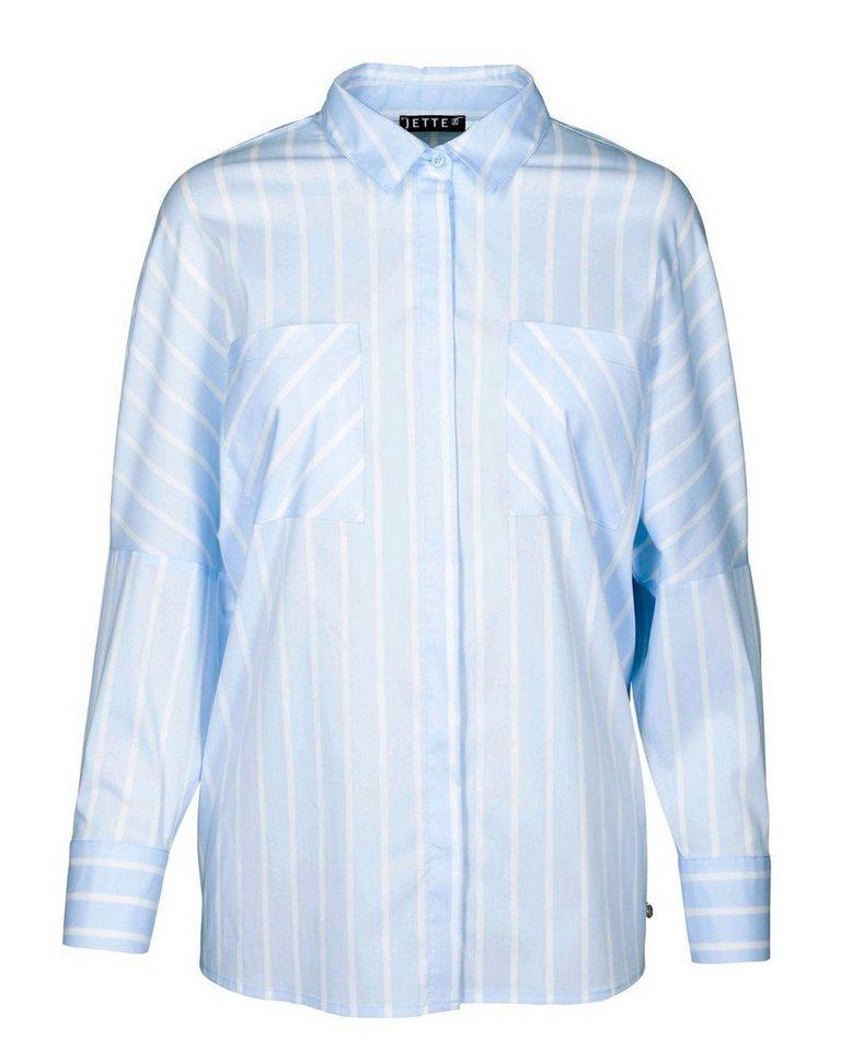 JETTE Bluse in Bleu/Weiß