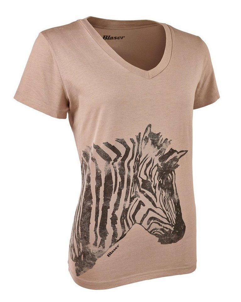 Blaser Active Outfits T-Shirt Zebra in Beige