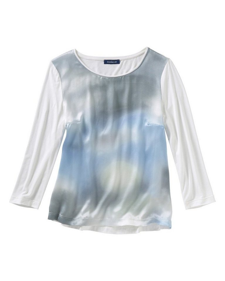 Highmoor Shirt mit 3/4-Arm in Bleu/Ecru