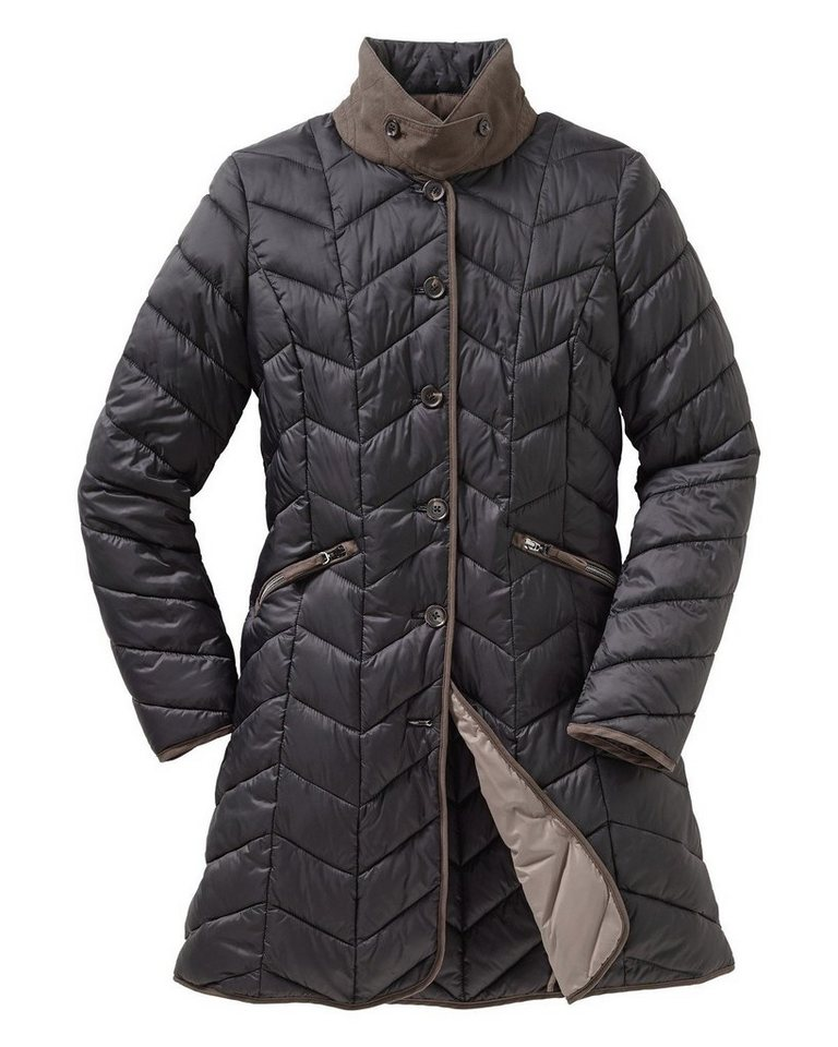 Highmoor Lange Steppjacke in Schwarz