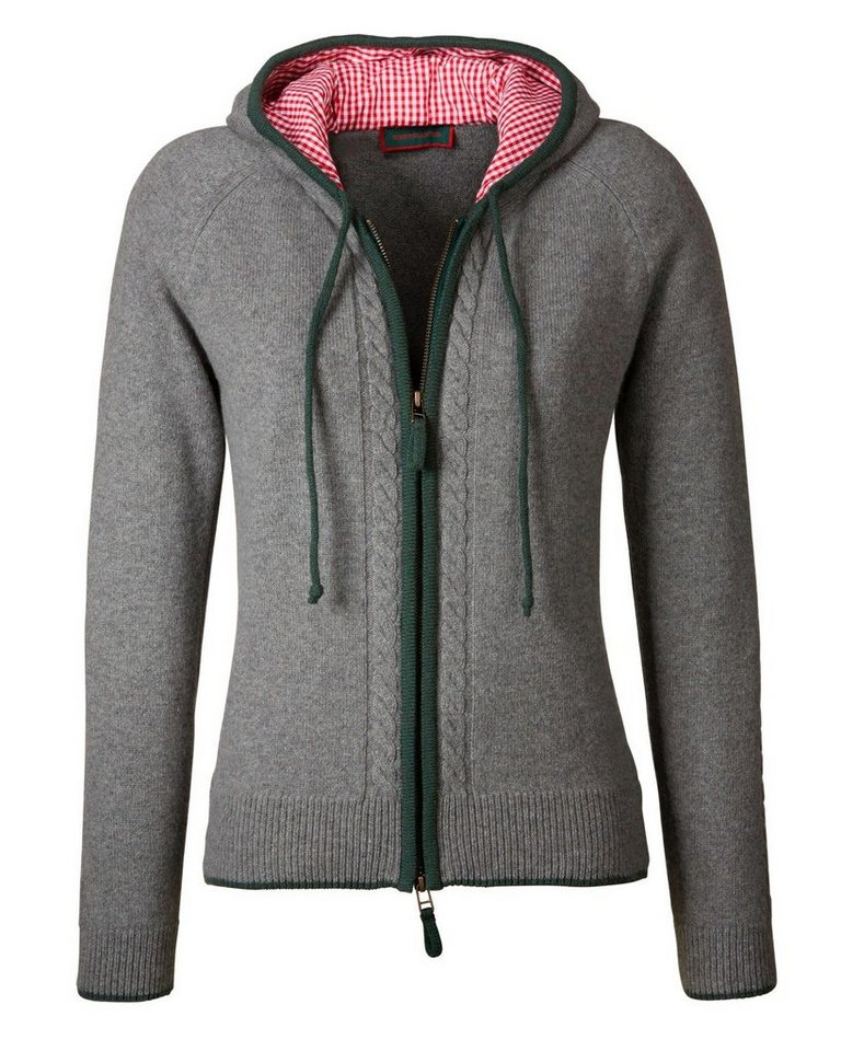 Reitmayer Strickjacke in Grau/Grün