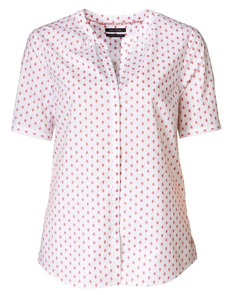 Marc O'Polo Bluse in Rot/Weiß