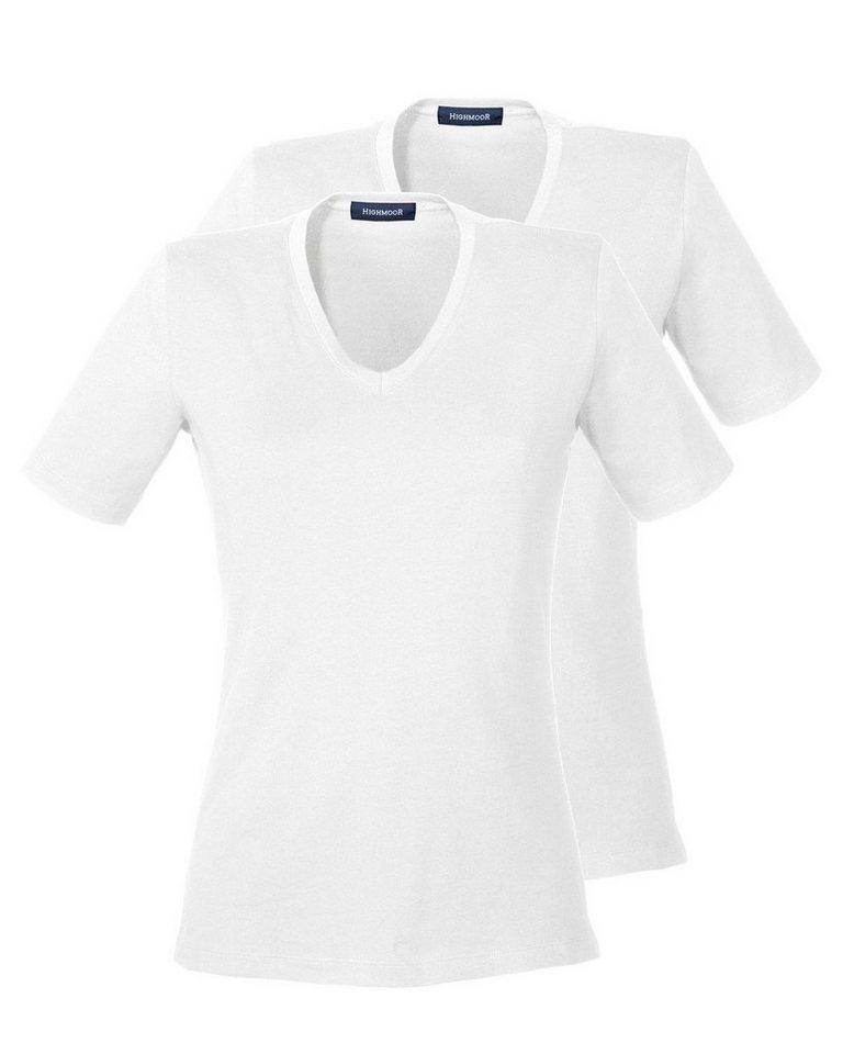 Highmoor T-Shirt 2er-Pack in Weiß