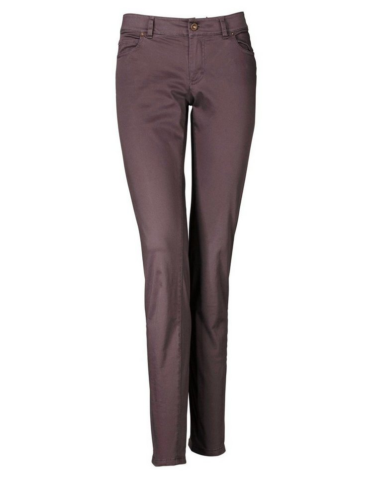 Marc O'Polo 5-Pocket-Hose in Aubergine