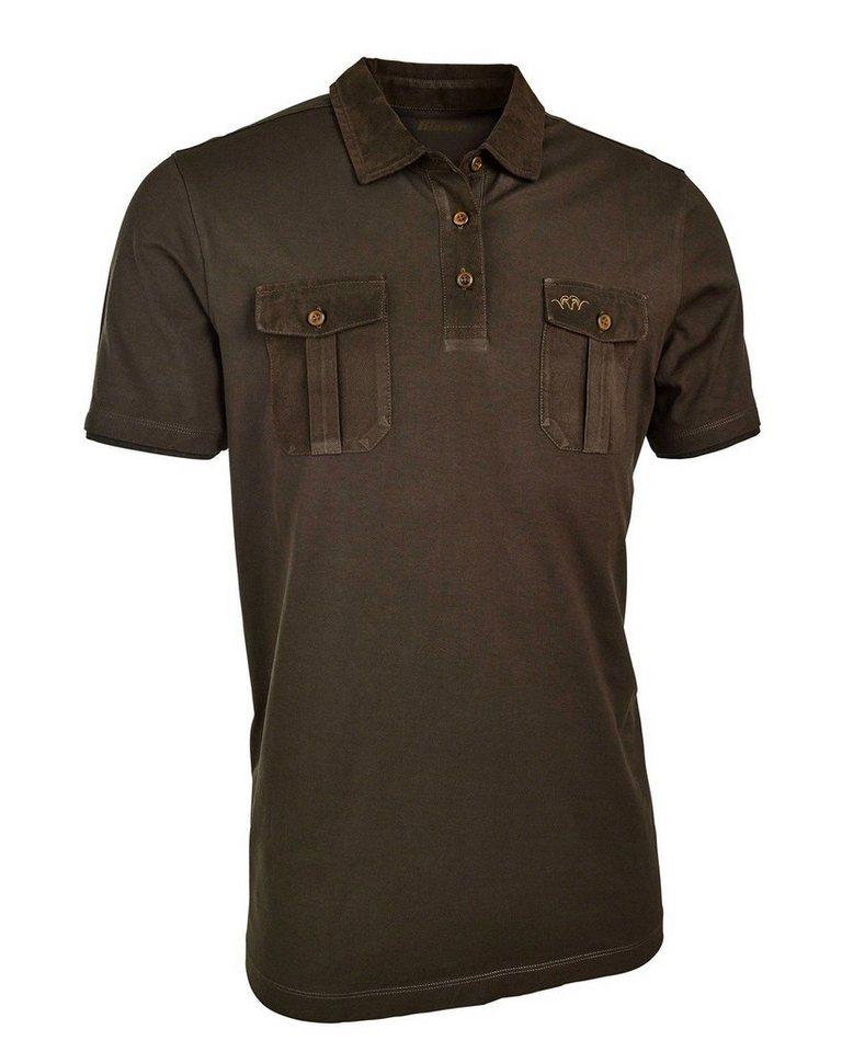 Blaser Active Outfits Polo-Shirt David in Braun-Meliert